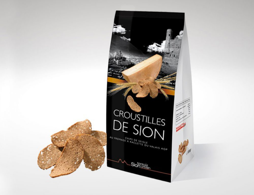 Croustilles de Sion au fromage – packaging