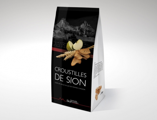 Croustilles de Sion, goût pomme – packaging