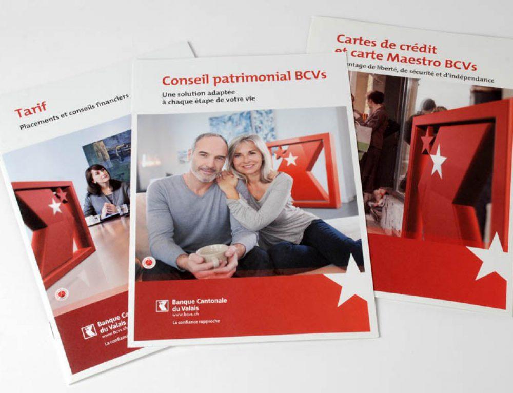 Banque Cantonale du Valais BCVs – brochures produits