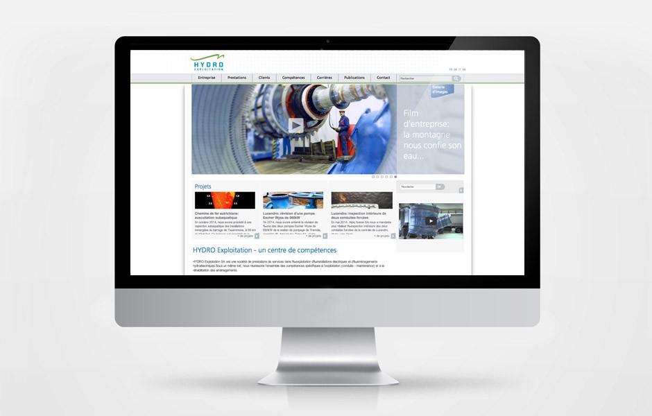 Hydro Exploitation – site internet