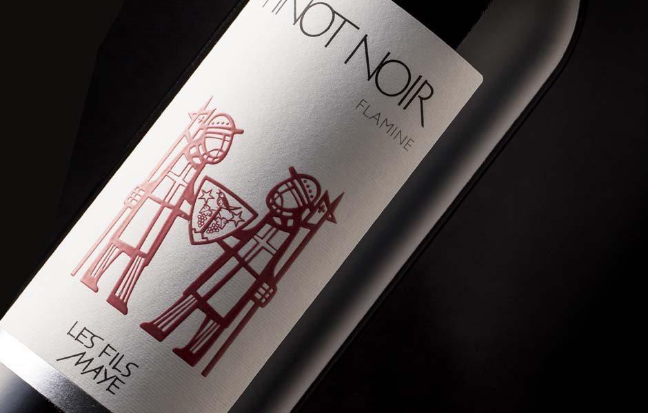 Les fils maye gammes d 39 tiquettes de vin eddy pelfini for Jardin des vins 2016 sion