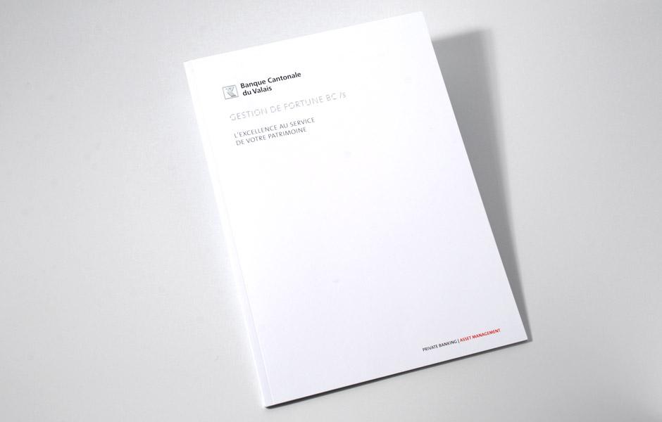 Banque Cantonale du Valais – Brochure Gestion de fortune BCVs